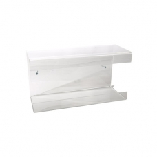 Plexiglas wall-mounted glove box holder